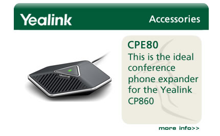 The CPE80 conference phone expander for the Yealink CP860